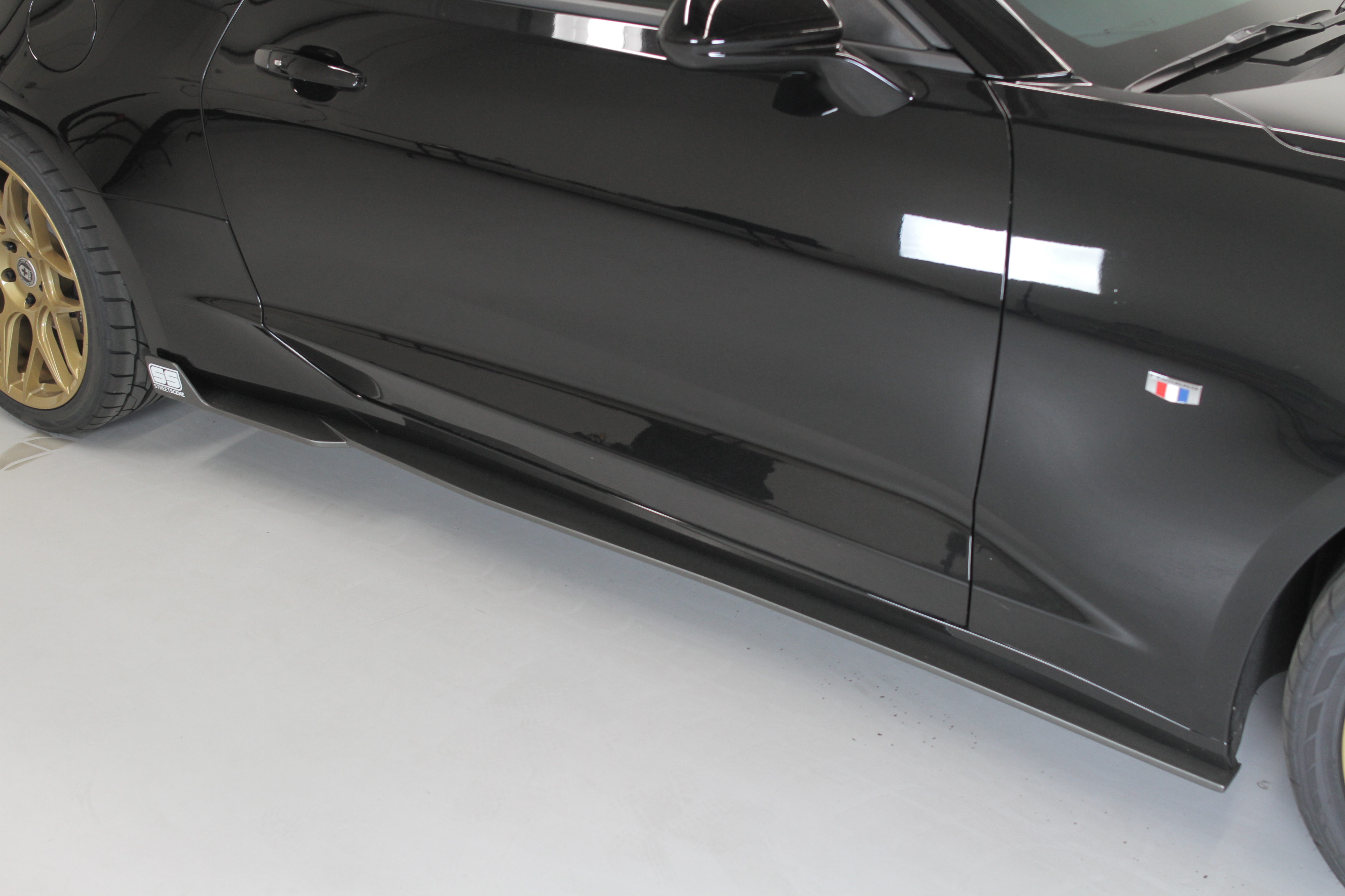 Chevy Camaro 2016 2017 Ss Side Skirts Urethane Painted Black