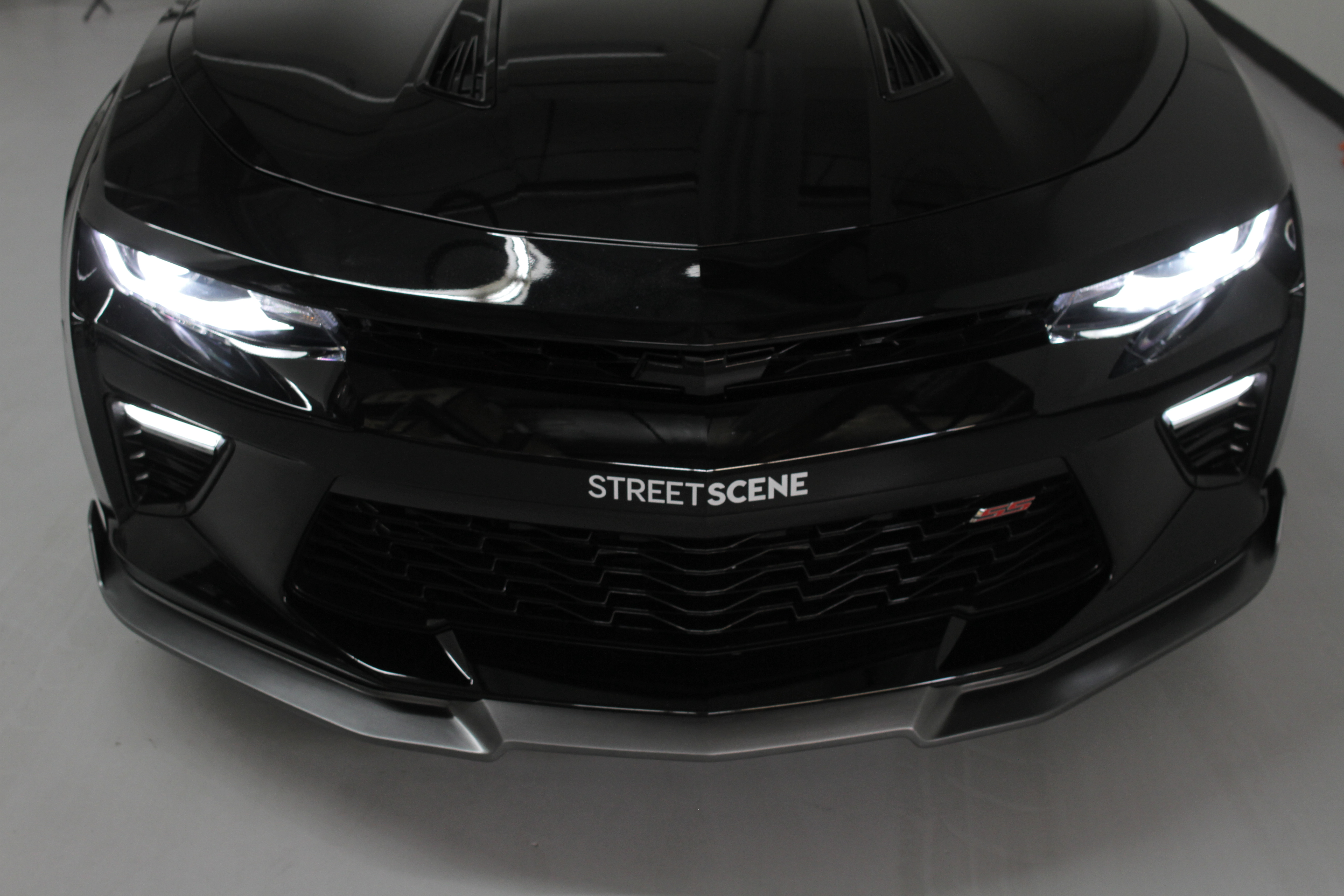 Chevy Camaro 2016 2017 Ss Front Splitter Painted Black
