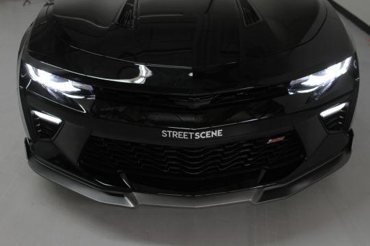 Chevy Camaro 2016 2018 Ss Front Splitter Painted Black Streetsceneeq