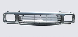 GMC S-10 94-97 CHROME GRILLE SHELL W/SEALED BEAM HEADLIGHTS 4MM BILLET  GRILLE