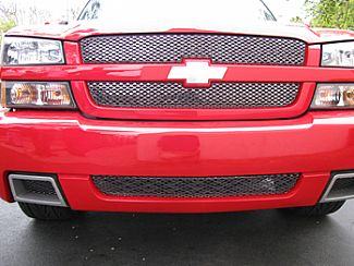 chevy silverado 03 06 with factory ss bumper grille black chrome