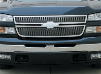 Chevy Silverado Hd 05 06 Silverado 06 Main Grille Black Chrome